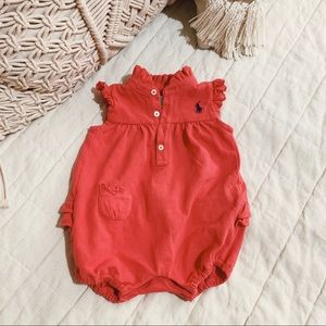 ralph lauren | baby ruffle but one piece